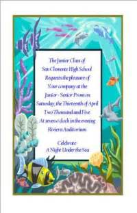 Prom invitations colouring pages page 3
