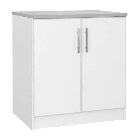 hampton bay     door base cabinet  white thd