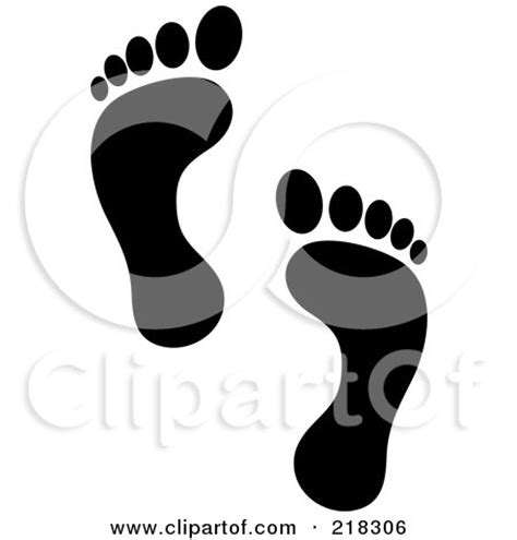 pair of black human footprints posters art prints by pams