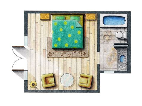 floor plan rendering really lovely rendered floor plan hope to do this more in