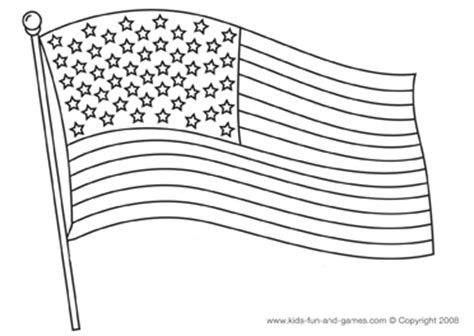 coloring pictures first american flag