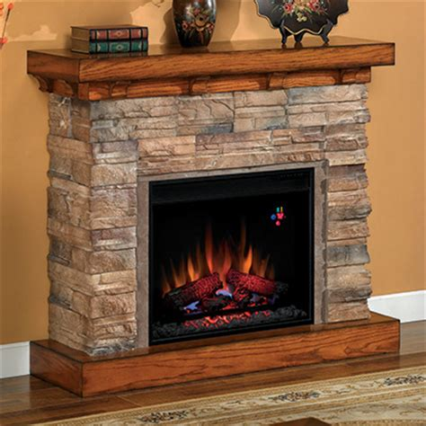 flagstone electric fireplace cabinet mantel package