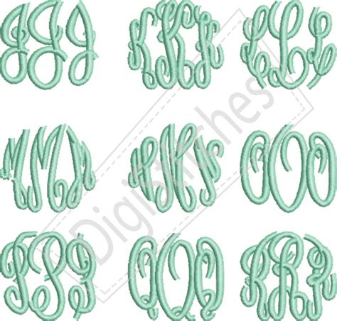 embroidery design monogram circle monogram small embroidery font digistitches