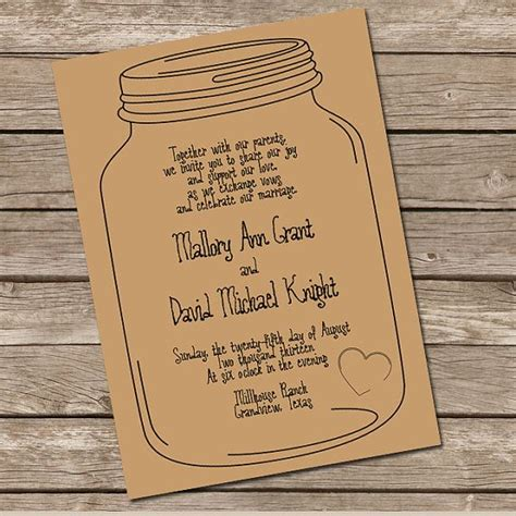 printable mason jar invitation mason jar invitation diy printable invitation i like