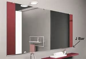 Bathtub Installation Clips J Bar Mirror Hanging Hardware For Frameless Mirror