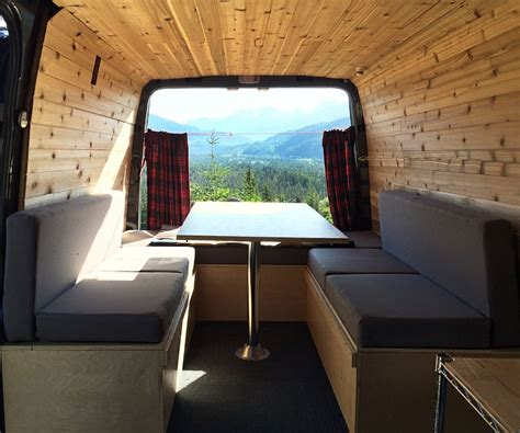 rv table bed how to sew cushions for a cer van