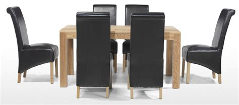 Dining Tables 6 Chairs Cube Oak 160 Cm Dining Table And 6 Chairs Quercus Living