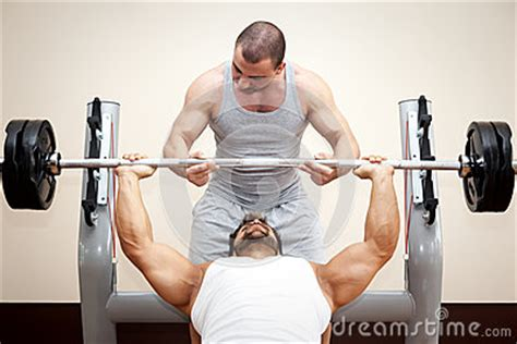 bench press help bodybuilding man royalty free stock photo image 35272795