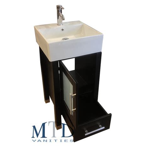 malta 18 quot single sink bathroom vanity set with mirror