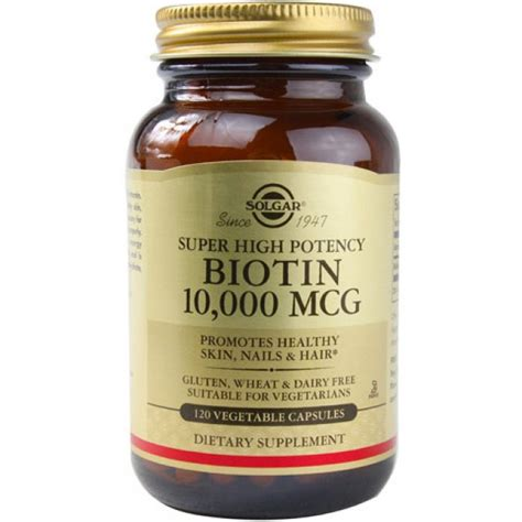 Biotin 10 000 Mgc 100 Capsul solgar biotin 10 000 mcg 120 veggie caps the