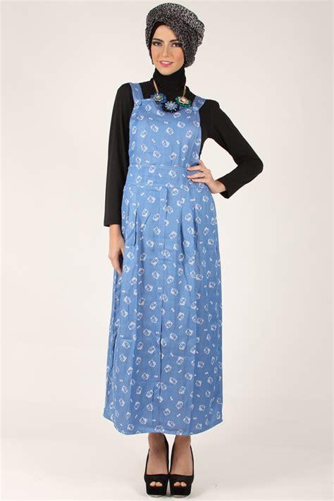 Overall Dress Muslim Wanita Erlina Overall model baju overall kodok muslimah makin populer