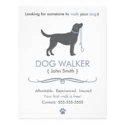 walker walking business flyer template zazzle