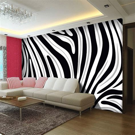 Wallpaper 3d Non Woven Fashion Modern Stripes 53cmx10m Pink 7065 custom mural wallpaper 3d eco friendly non woven wallpaper black and white zebra striped