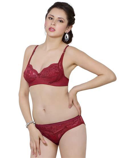 Ediga Bra Set Maroon Ukuran 36 buy simoni maroon polyester bra sets at best prices in india snapdeal