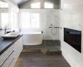 Bathroom Ideas With Tub Looking At A View by Yorba Linda Residence Contemporary Bathroom Los
