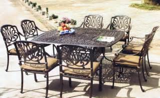 aluminum piece patio dining set