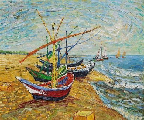fishing boat on the beach fishing boat on the beach van gogh fishing boats on