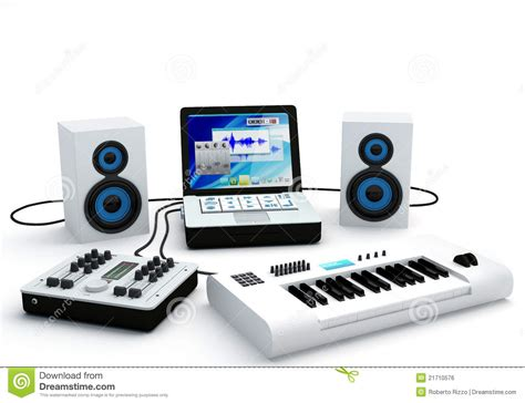 Mixer Untuk Home Recording home recording studio equipment stock illustration