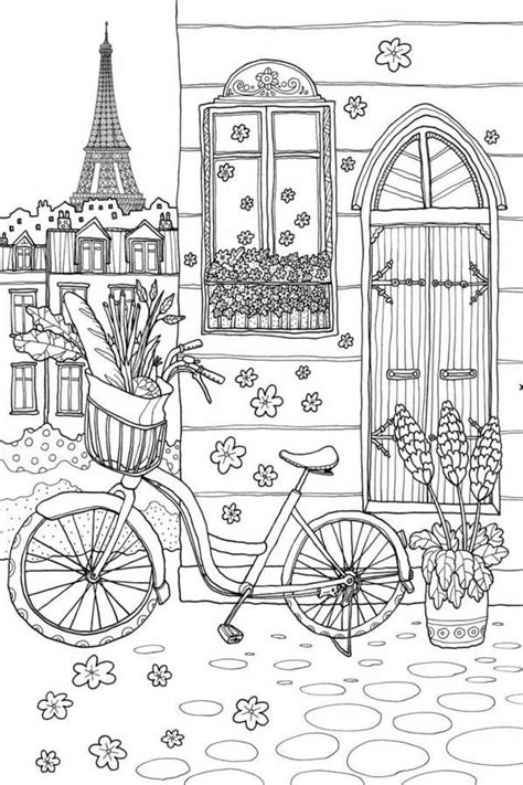coloring book pages paris 17 best images about coloring pages art therapy on