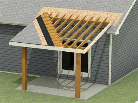 Adding Shed Roof Deck - tying a porch roof shed into existing roof home design