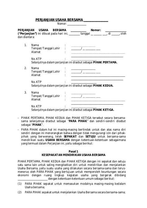 contoh surat mou wisata dan info sumbar