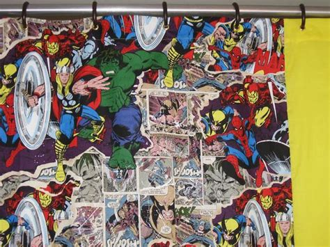 Comic Book Curtains Showers Adventure And Comic On