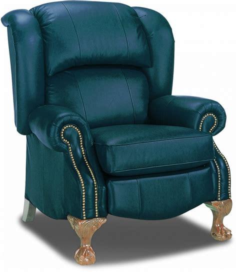 la z boy recliner chair buchanan high leg leather recliner by la z boy furniture