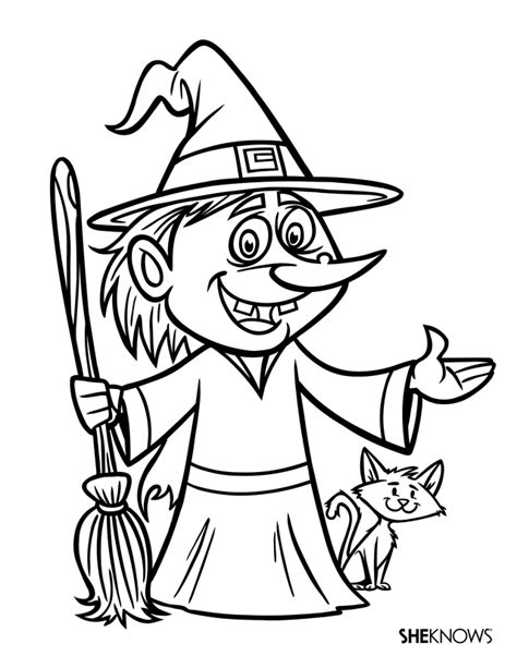 boy witch coloring page ugly witch free printable coloring pages