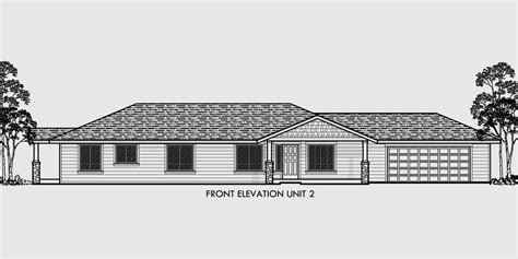 one level house plans one level duplex house plans corner lot duplex plans
