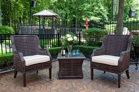 outdoor furniture luxury mila collection all weather wicker luxury patio furniture 2 person chat set