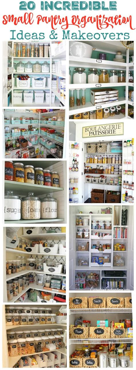Small Pantry Makeover by 20 Small Pantry Organization Ideas And