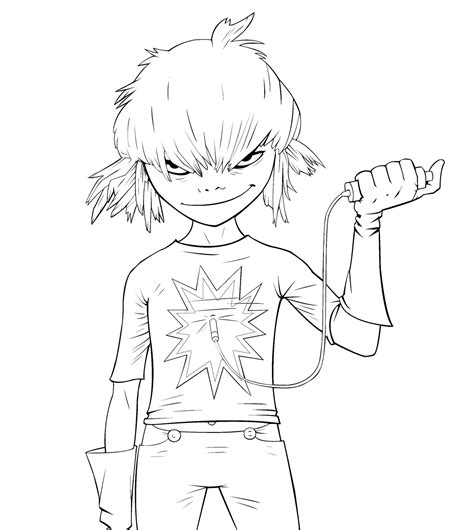 gorillaz coloring opa ge coloring pages