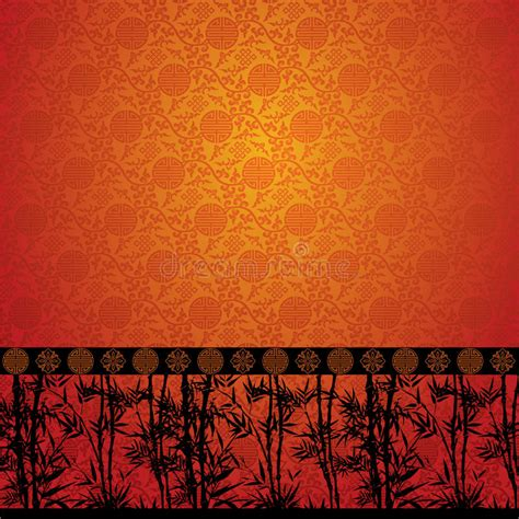 chinese pattern border ai bamboo border on chinese wallpaper stock vector