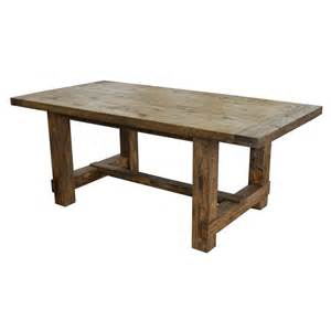 Rustic Table Ls Rustic Classics Country Reclaimed Solid Wood Farmhouse Dining Table Canada At Shop Ca