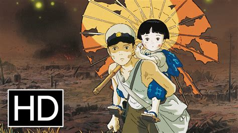 film anime full movie grave of the fireflies official trailer youtube