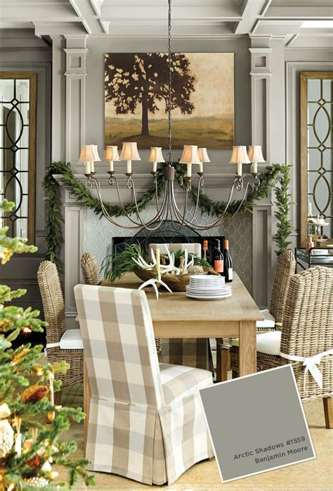 gray paint color in ballard designs catalog dining room