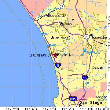 california map encinitas encinitas california ca population data races