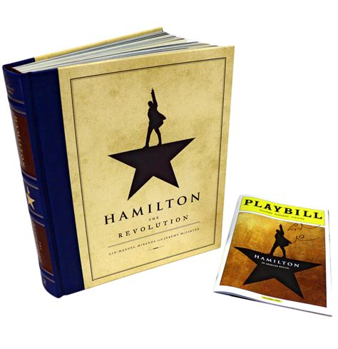 the hamilton cookbook cooking and entertaining in hamilton s world books charitybuzz signed hamilton playbill a copy of the new