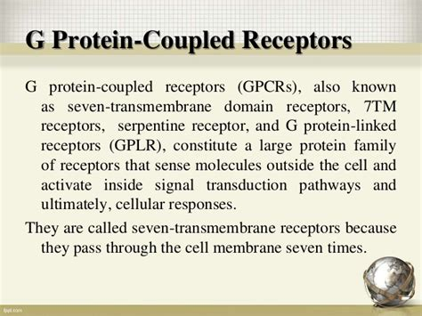 G protein coupled receptors and their Signaling Mechanism G Protein Coupled Receptors Gpcrs