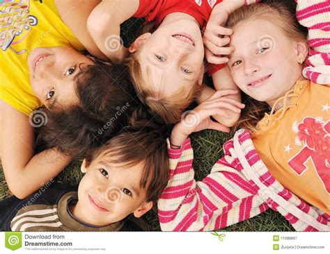 Small Group Of Happy Children Outdoor Stock Image Image Of Girl Friendship 11088897 Pictures Of Small Children
