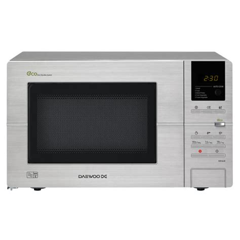 morphy richards 20l stainless steel microwave oven counter daewoo stainless steel eco touch microwave oven 20l iwoot