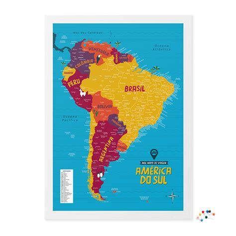 mapa a america do sul meu mapa de viagem am 233 rica do sul alfinetes hometeka