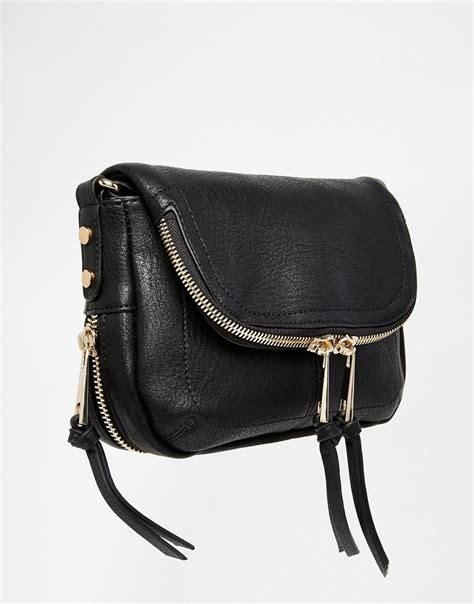 Bag Free Pouch Handbag lyst oasis fold zip detail cross bag in black