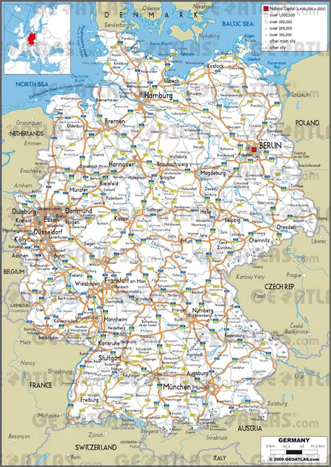road map of germany 100 map of germany and poland map map detailing the