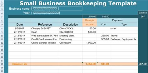 templates for small business small business bookkeeping template spreadsheet