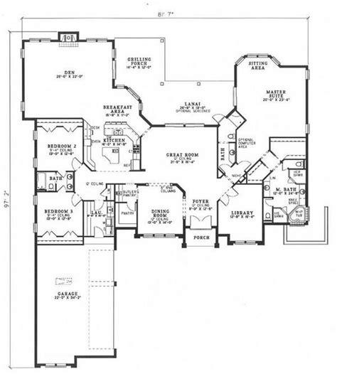 plan 110 00935 3 bedroom house plan 110 00412 florida plan 3 654 square feet 3
