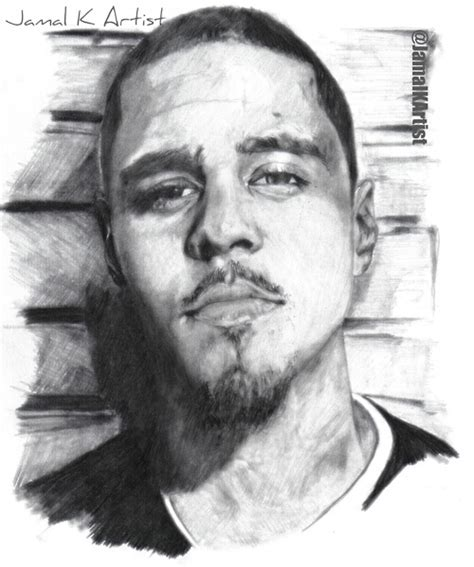 J Cole Sketches by J Cole Drawing By Zwarrior122 On Deviantart