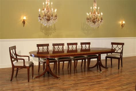 Pedestal Dining Room Table Large Oval Mahogany Pedestal Dining Room Table With Leaves