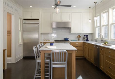 Kitchen Cabinet Door Painting Ideas 2 toned kitchens trendy too much for small spaces