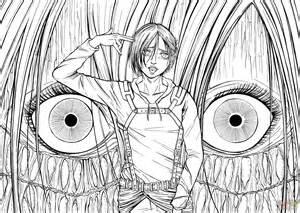 ausmalbild annie leonhardt weiblicher titan aus der manga serie angriff auf titan